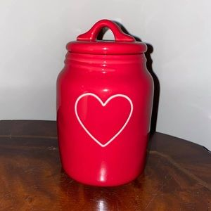 Rae Dunn Red Baby Hearts Canister